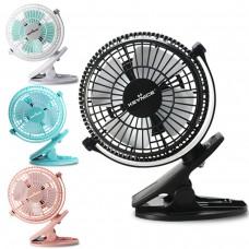 Keynice USB Clip and Desk Personal Fan, table fans, clip on fan,4 Inch 2 speed portable Cooling Fan, 360° up and down, KN-835
